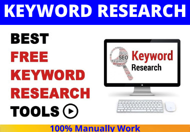 I will create 25 keyword research,  seo with competitor Analysis,  ranking in google your website