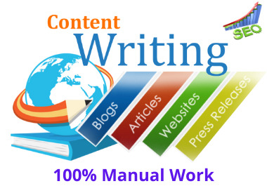 I will write 500-1000 words manually,  high quality,  unique SEO content writing/article writing, blog