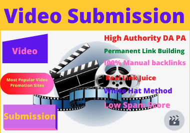 I will Provide 50 Video Submission in different platform to sharing sites