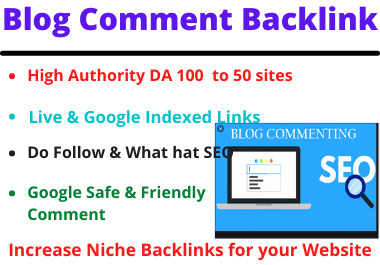 I will do 80 Blog Comments manually high authority dofollow backlinks on high DA PA to website