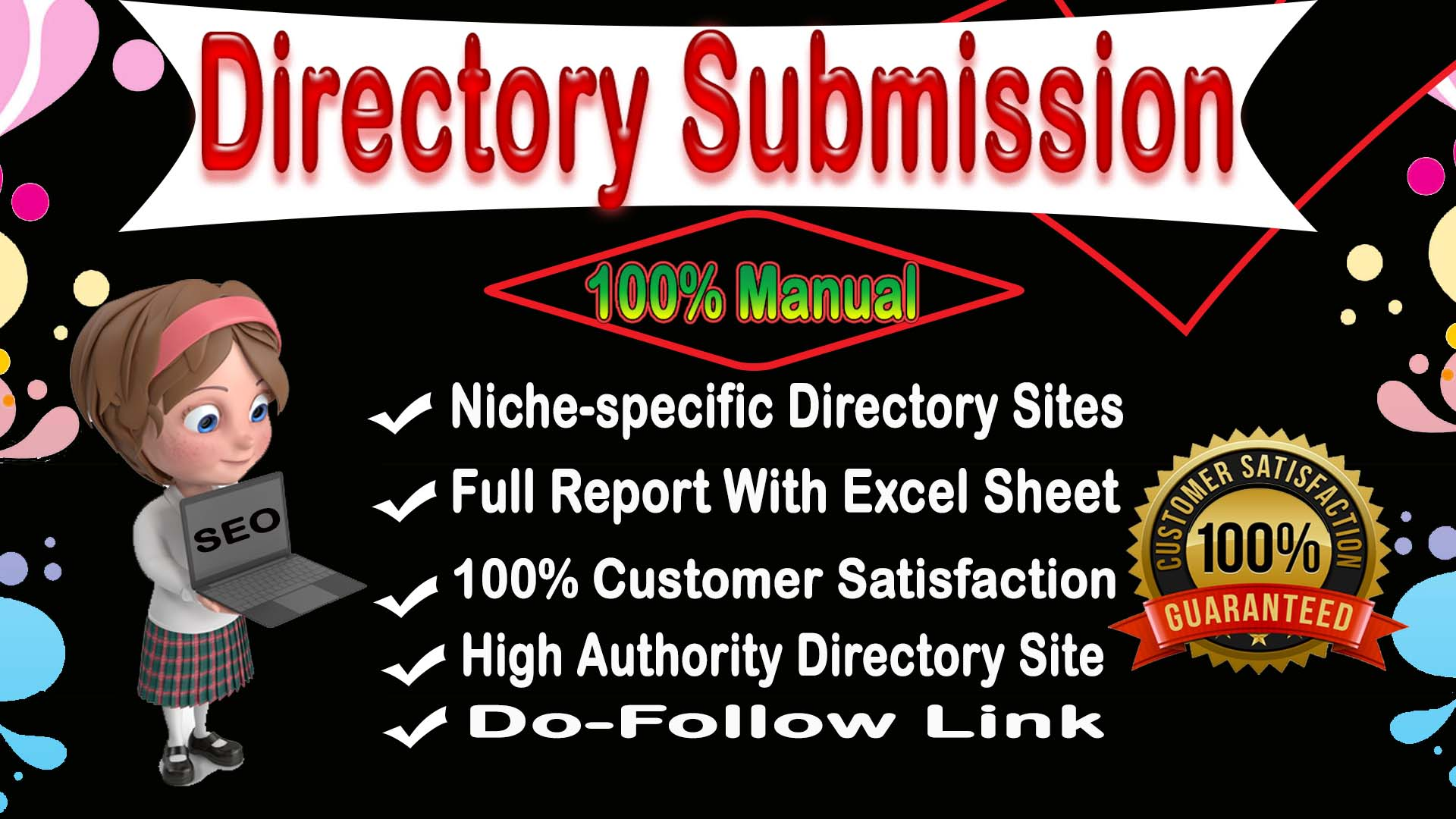I will Do 30 web directory submission For Off-Page SEO backlinks on HQ WebSite