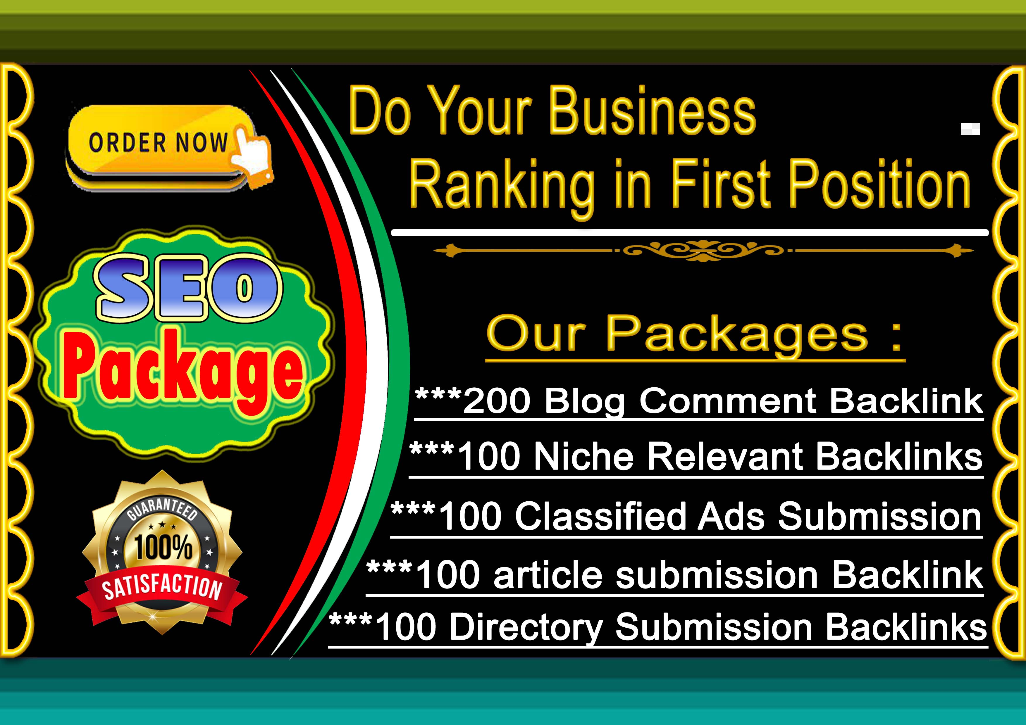 I Will Do 600 SEO Backlink in a Package For Google Top Ranking
