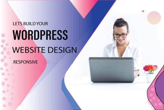 I will create responsive wordpress website or redesign your website