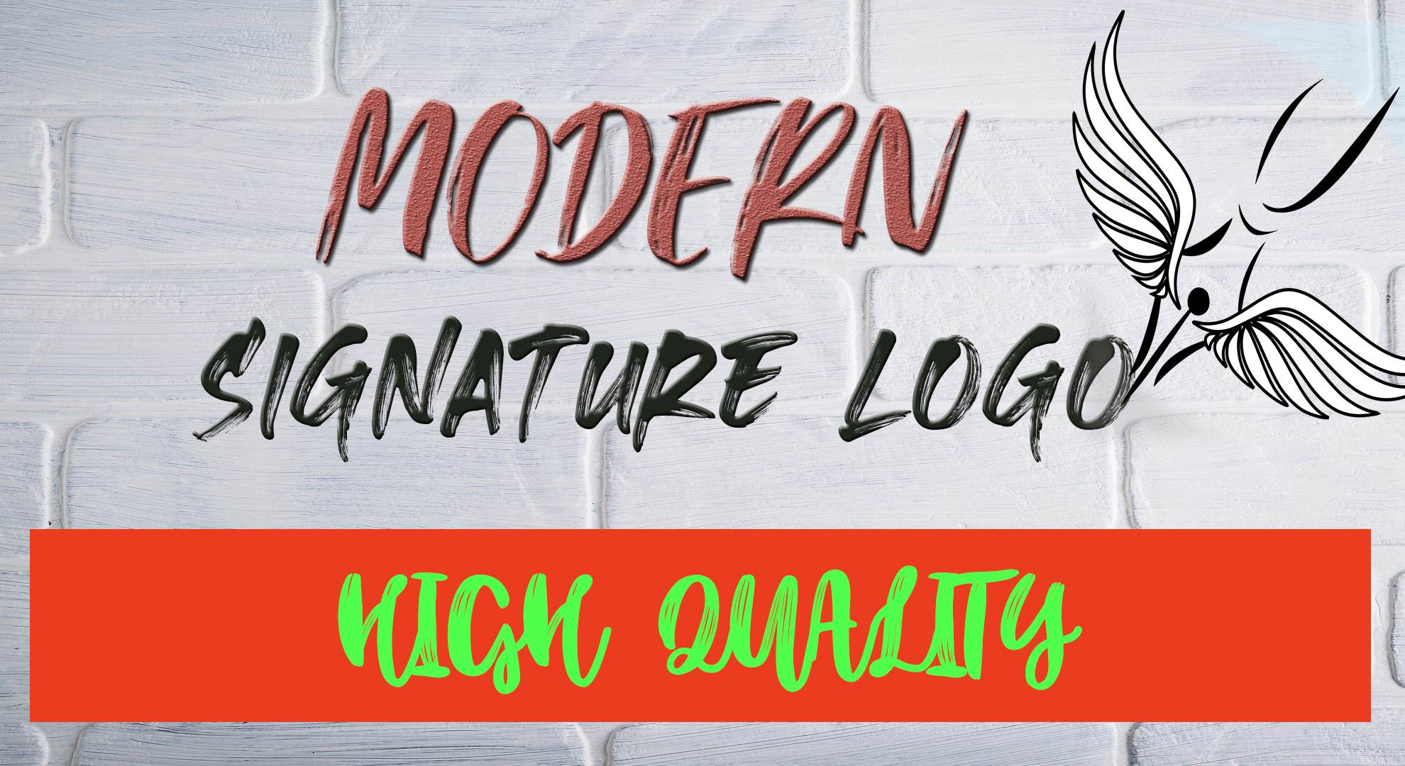 I will create a stunning modern signature logo