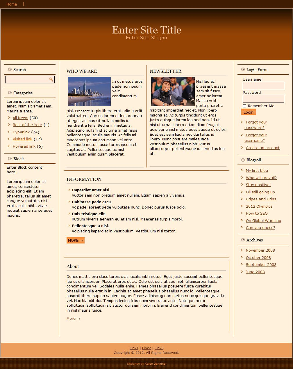 I will provide 6 RESPONSIVE MAGAZINE STYLE WEB TEMPLATE PACK.