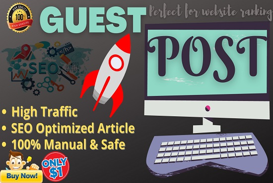 I will Write and Publish 2 High Quality Guest Post On High Authority Websites with DoFollow Backlink