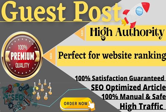 I Will Publish 10 High Quality Guest Posts On DA 55+ Website with SEO Backlinks,  Link Building