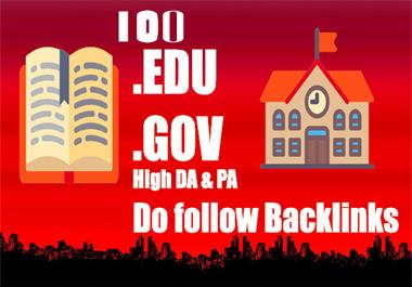 Do 100 premium quality powerful edu gov Backlinks