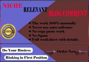 Provide 100 HQ Niche Relevant Blog Comments Backlinks