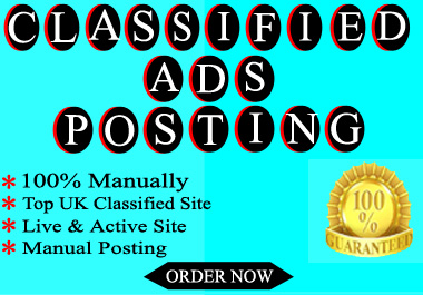 I Will Make 30 Classified Ads Posting For SEO Backlinks
