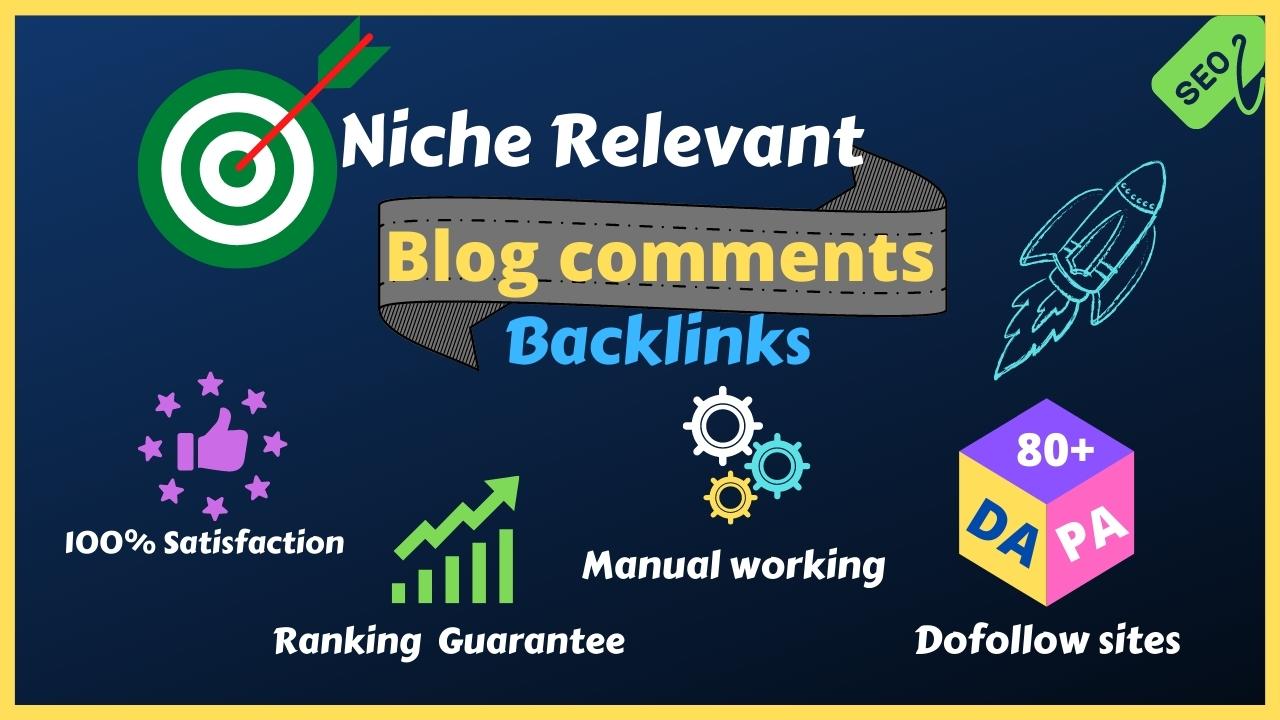 I will do 60 niche relevant dofollow blogcomments SEO backlinks for Google ranking