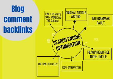 I will write 50 unique niche Blog comment for your site