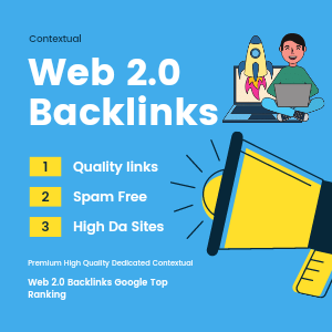 Build 20 Quality Web 2.0 Backlinks For Top Ranking