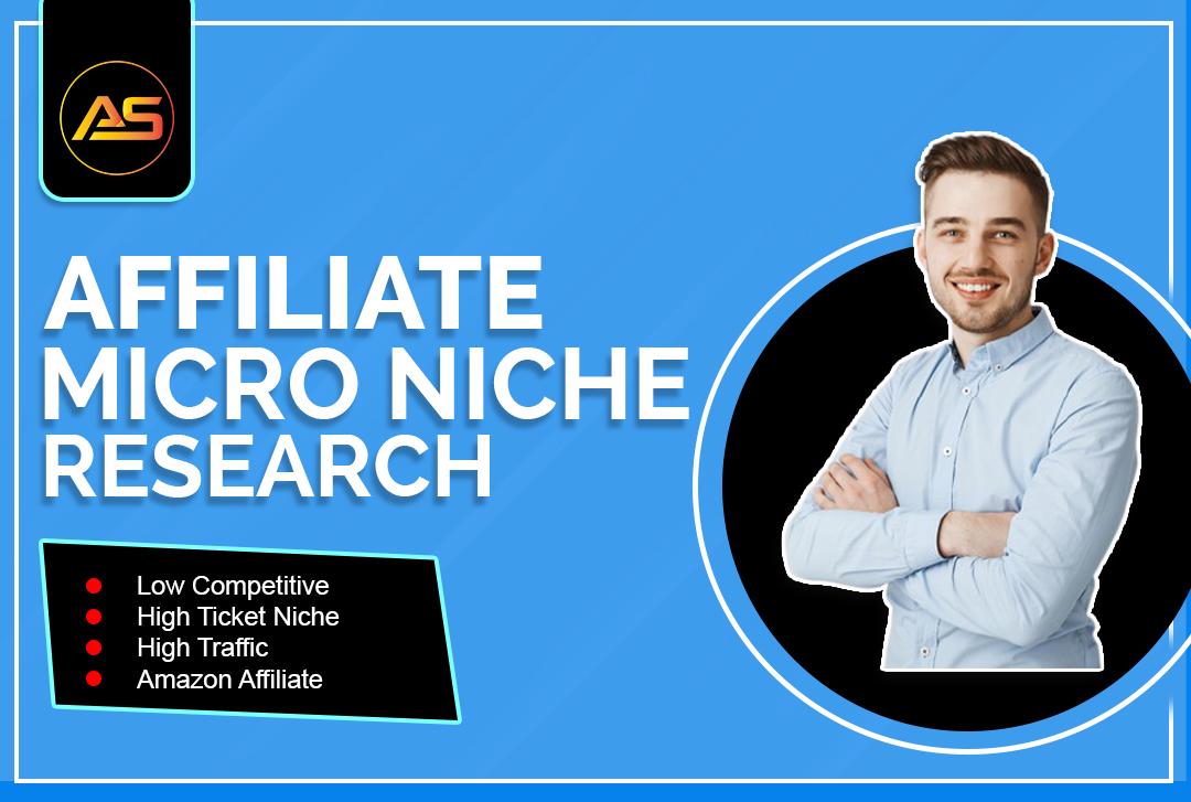 I will do high profitable amazon micro niche research