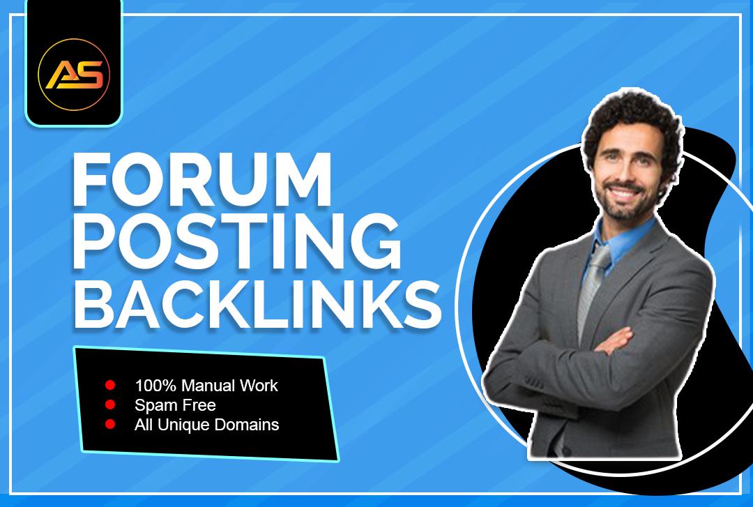 I will make manual forum posting SEO do follow backlinks