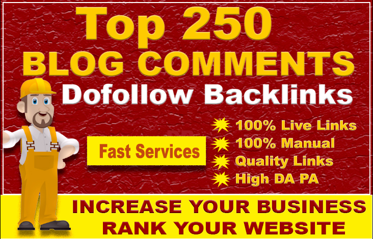 Create 250 dofollow blog comment seo backlinks on low obl sites