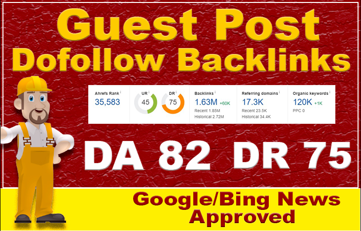 Write and Publish guest post on 82 da google news site with dofollow seo backlinks