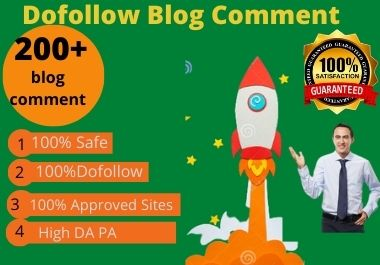 I will do 100 High Quality Do follow Blog Comments SEO backlink on High Da Pa