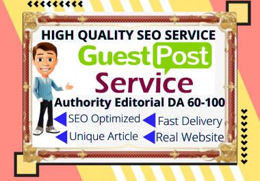 Publish 5X Guest Posts On 5 Top Authority Editorial DA 60-100 Sites