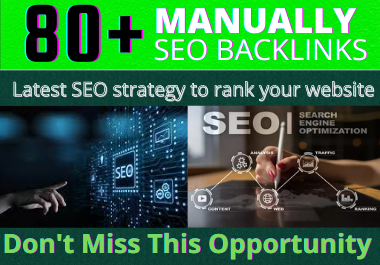 Push your site Google 1st Page,  through Our incredible 80 High Domain Authority Seo Backlinks