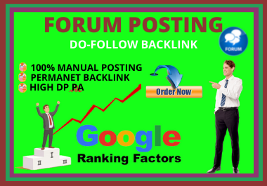 I will provide 50 Unique dofollow Forum Posting Backlinks for Your website Google Ranking