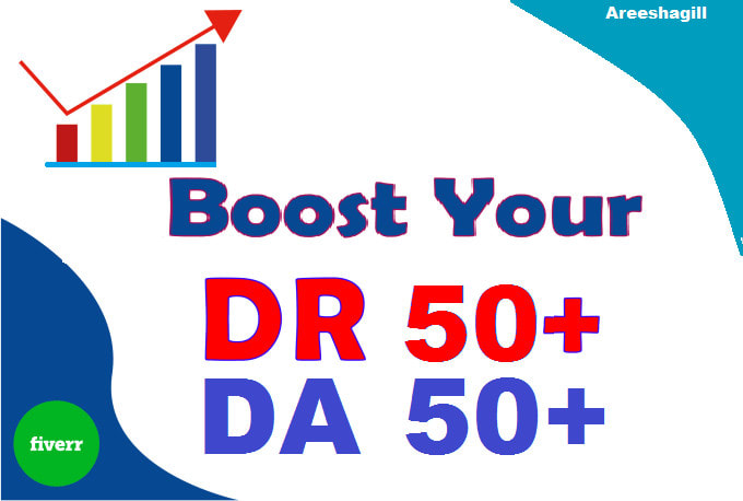 I will increase domain rating DR 50 ahrefs with dofollow backlinks