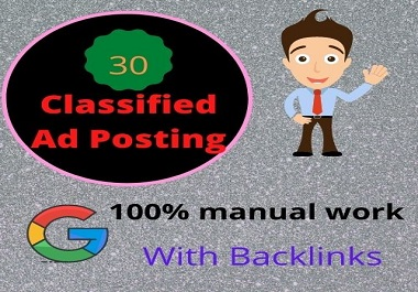 I will Post Your Ad Top 30 High Quality Classified Ad Posting Sites