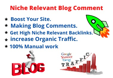 I will Provide 25 Strong Niche Relevant Blog Comments High Backlinks