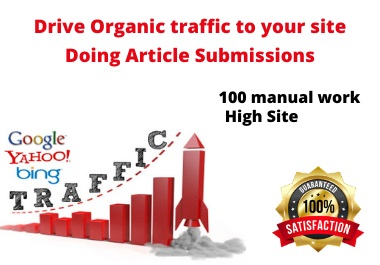 I will provide manually 25 article submission backlinks