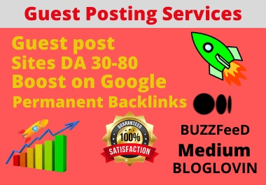 I will Provide You 15 SUPERSTRONG High authority guest posting Services