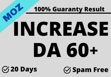 I will do Guaranteed Increase your Domain Authority Moz DA min.50.