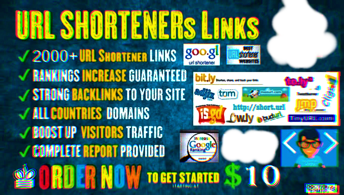 I will do 2000 URL shortener links to boost your rankings traffic