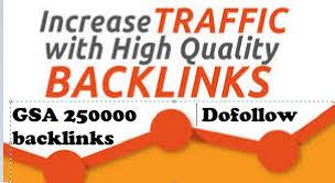 250,000 GSA SER Dofollow Backlinks