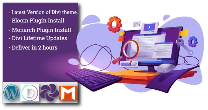l will Install Premium Divi Theme and Plugins with lifetime updates