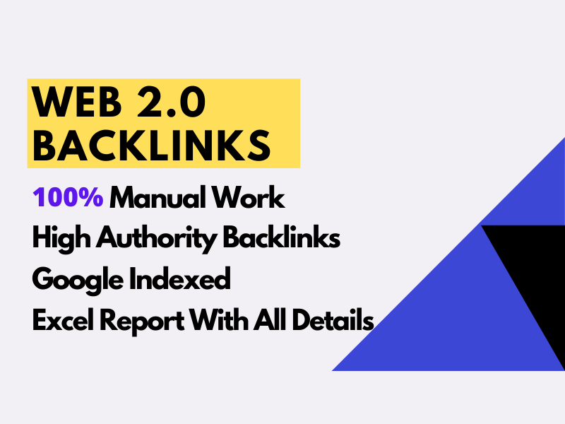 I'll manually build 50 web 2.0 backlinks using high authority website