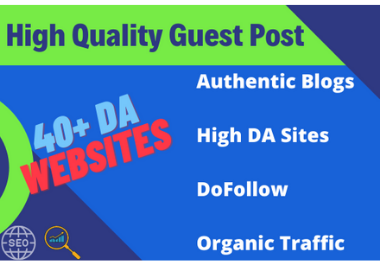 I will provide guest post on google news approved high da website with organic traffic