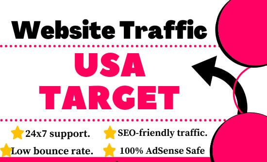 I Will Drive Unlimited USA Targeted Traffic for your website or blog site