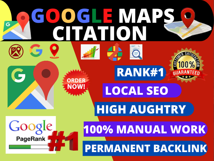 Manual 200 Google maps Citation for local SEO and google my business page local citation