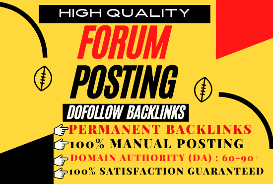 I will create manually 30 Forum Posting Doffolow SEO Backlinks for Google Ranking