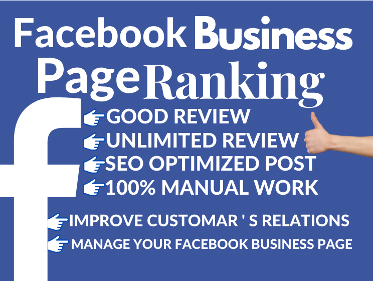 I will Provide 20 Facebook business page professionally ranking