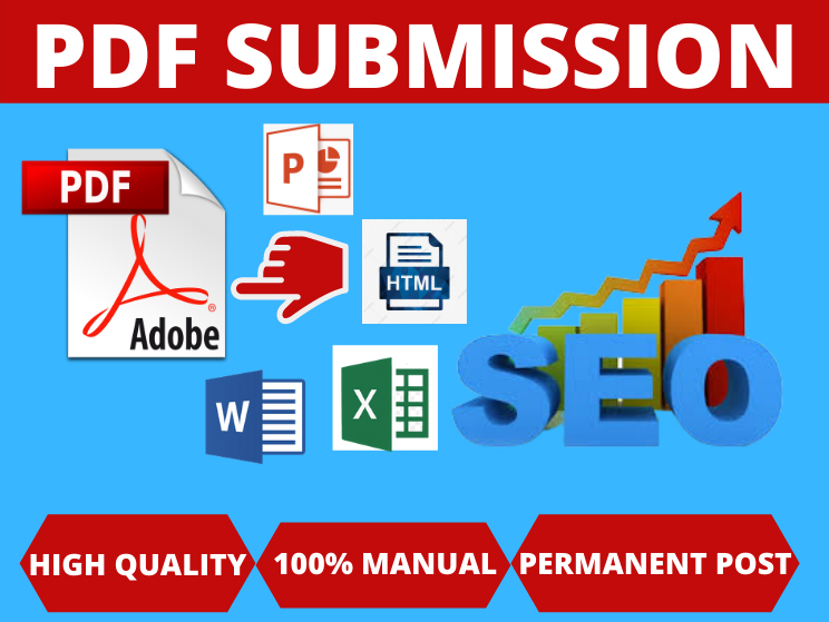 40 PDF Submission High authority low spam score website backlinks permanent link building