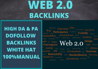 10 Web2.0 backlinks high Authority unique content permanent contextual link building High DA
