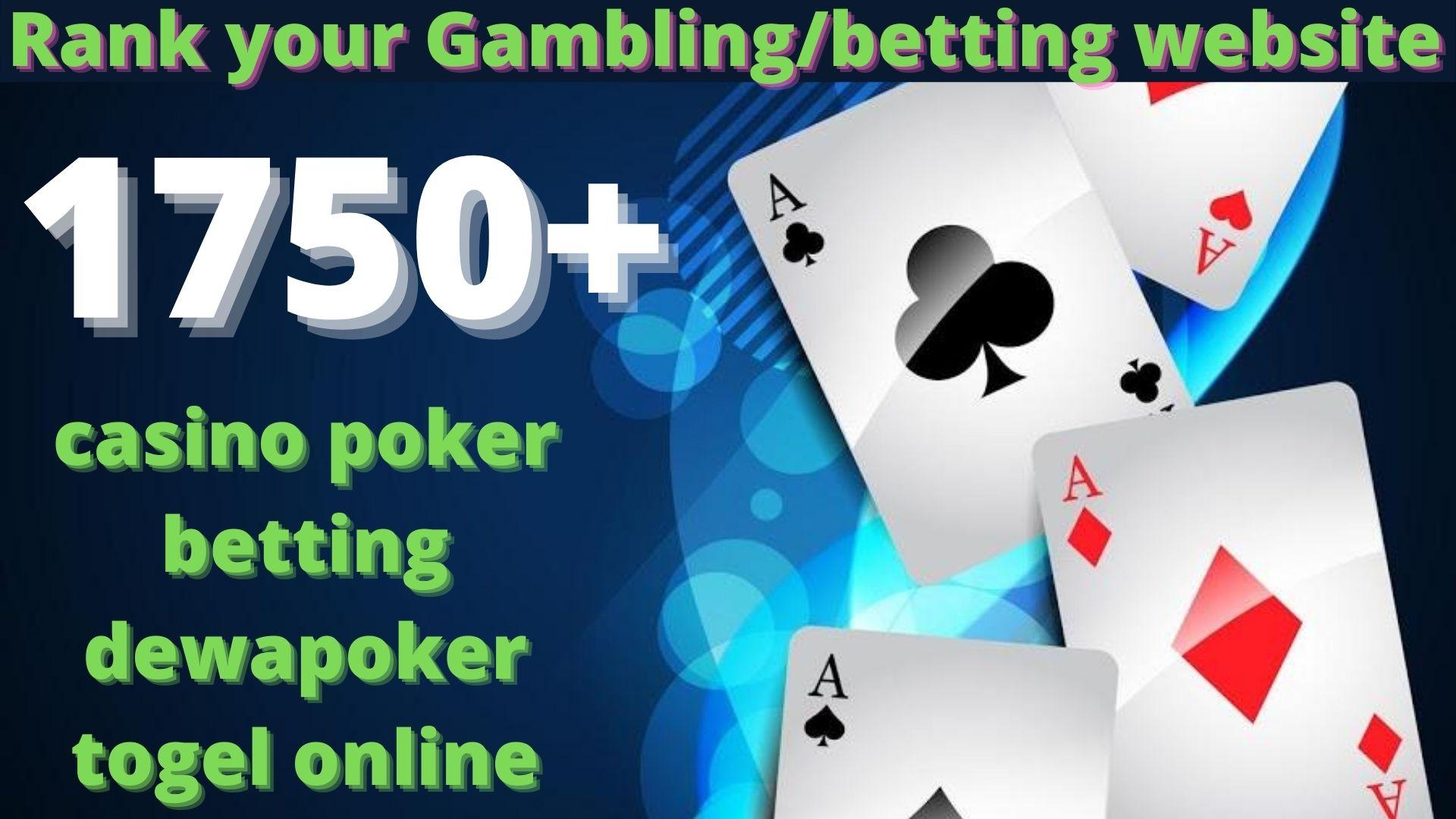 1750 High Quality Homepage Backlink Casino,  Poker,  Gambling BETTING DA50+ PA 35+ 100 DOFOLLOW