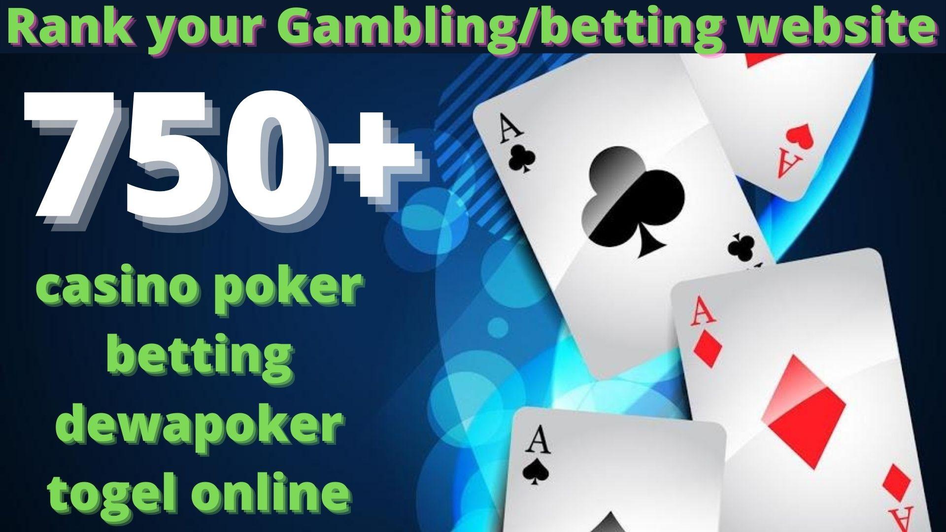 750+ High Quality Homepage Backlink Casino,  Poker,  Gambling BETTING DA50+ PA 35+ 100 DOFOLLOW