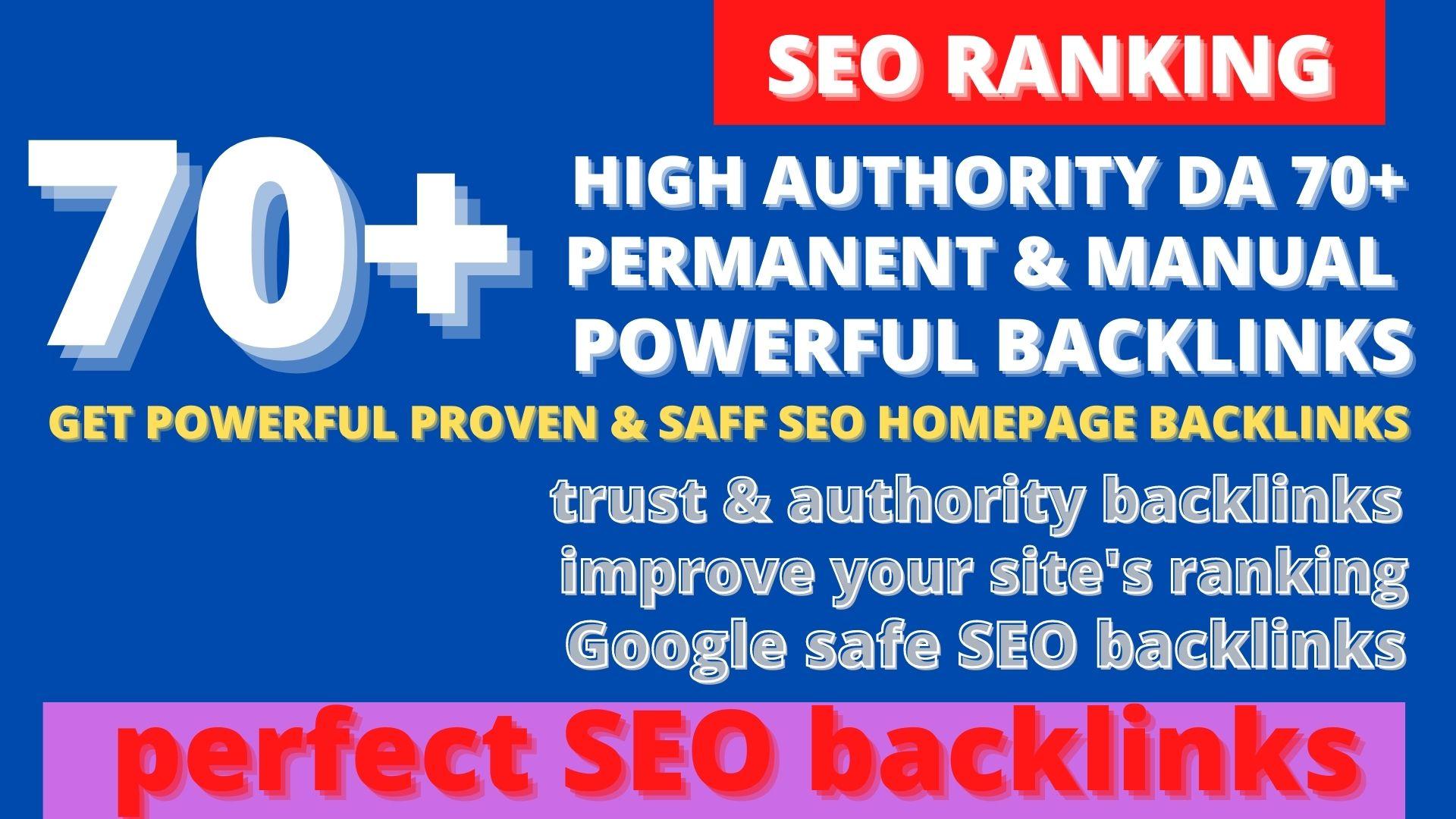 get premium permanent 70+Pbn Backlink DA40+PA40+PR10 to 6 dofollow unique site