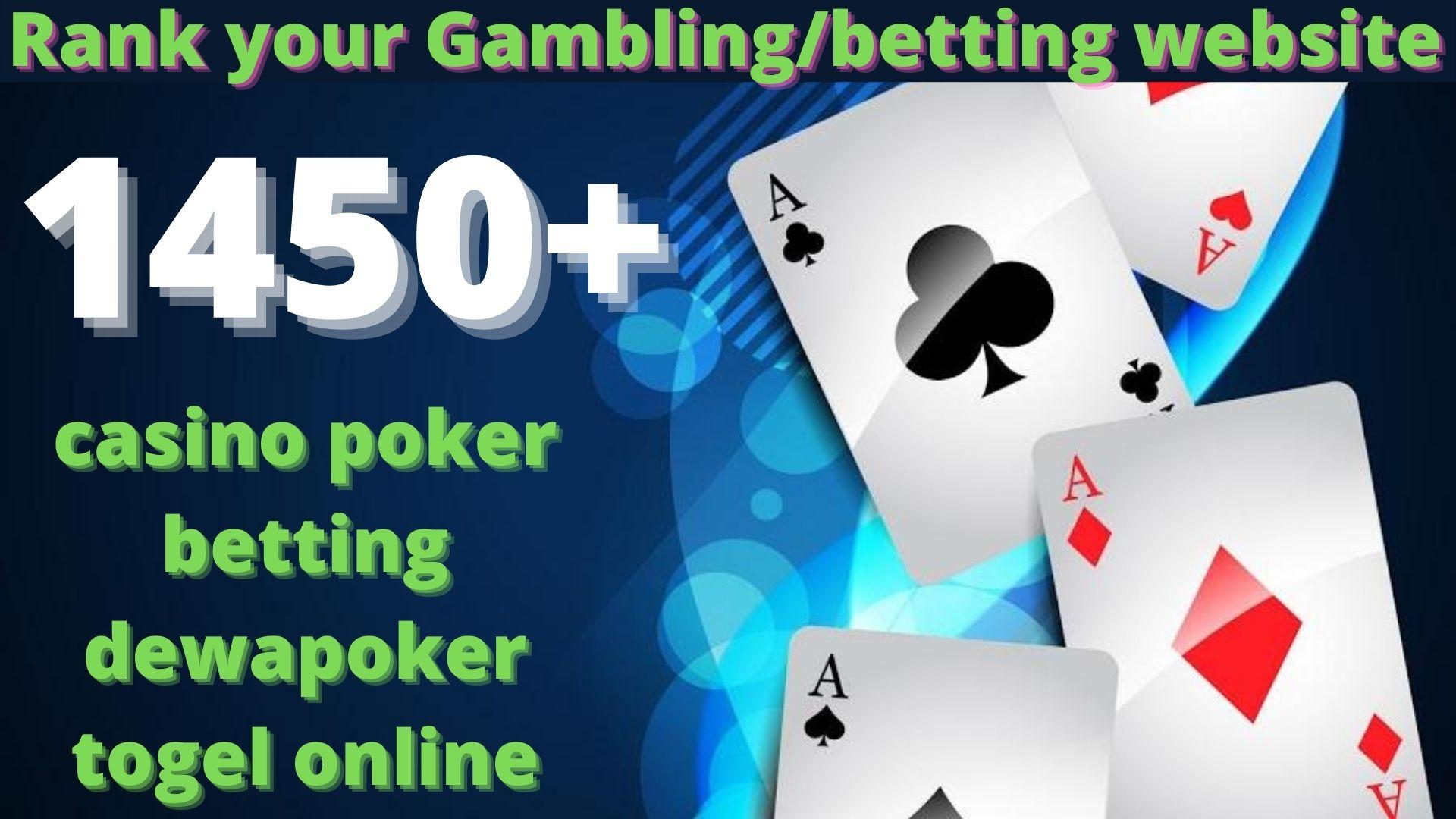 1450 High Quality Homepage Backlink Casino,  Poker,  Gambling BETTING DA50+ PA 35+ 100 DOFOLLOW