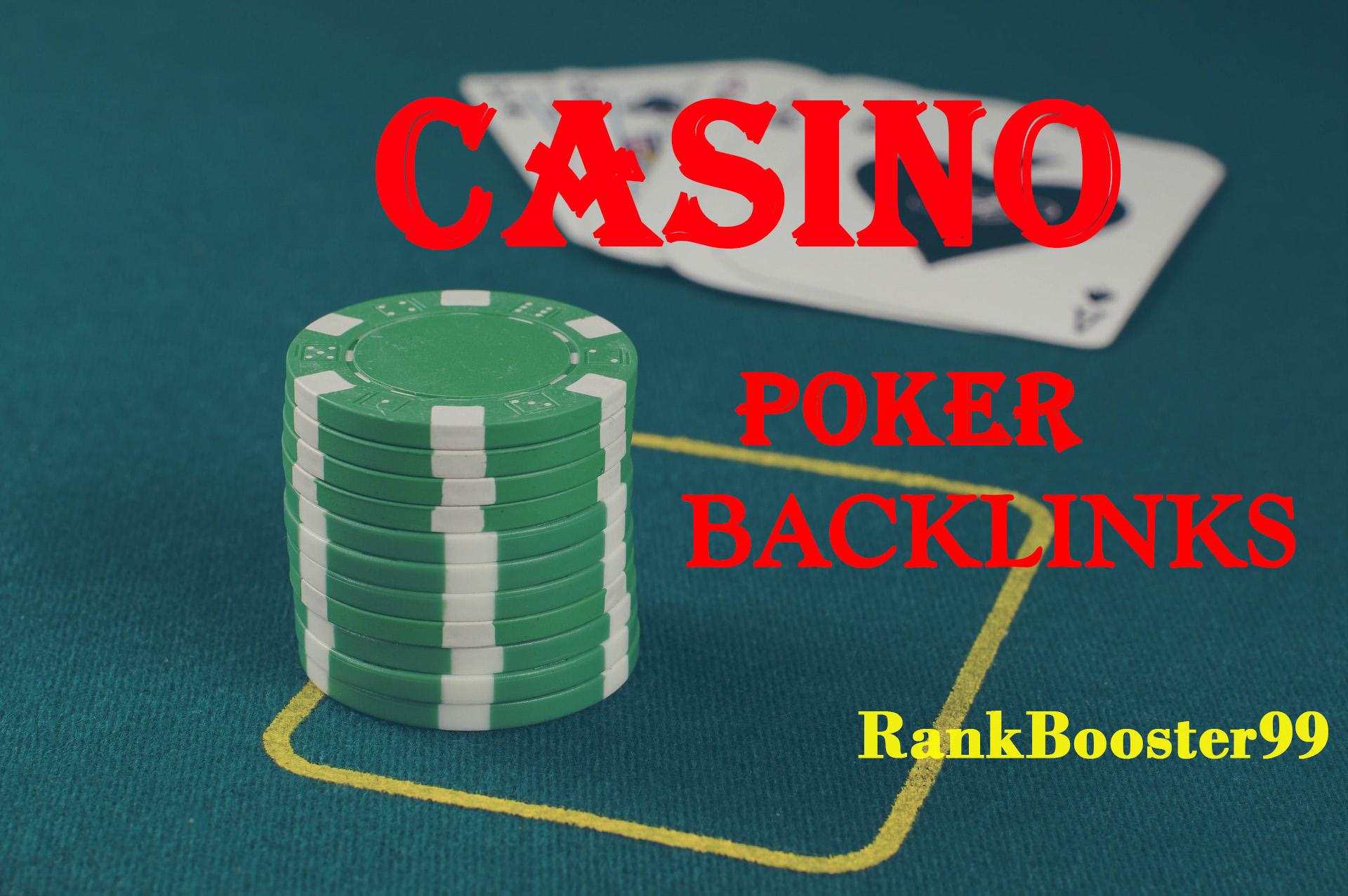 Permanent 500+ powerful Casino,  Gambling,  Poker,  Sports betting,  Judi related backlinks unique site