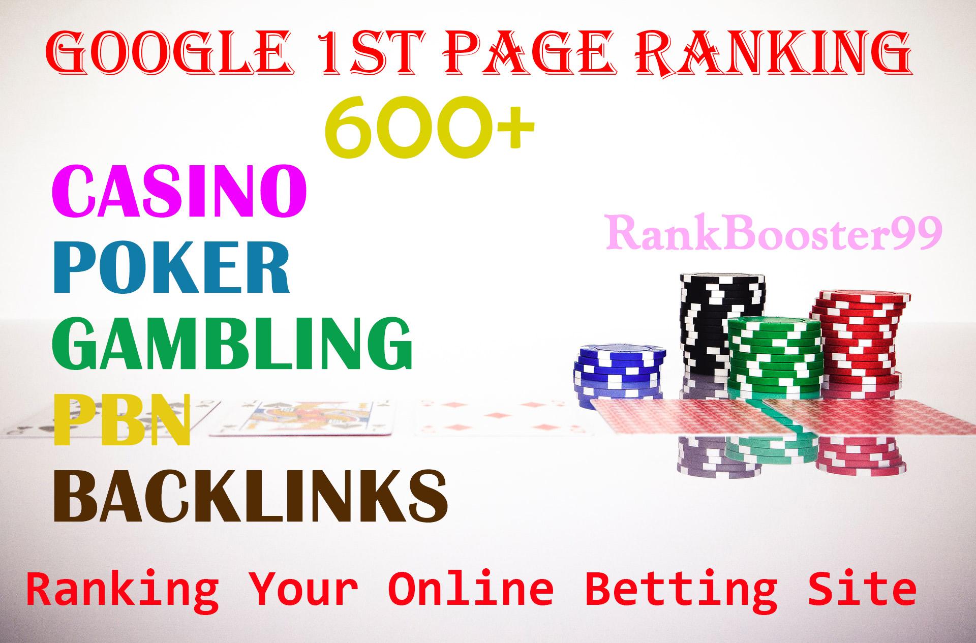 600+ Unique CASINO,  GAMBLING,  POKER,  JUDI BOLA PBN Backlinks