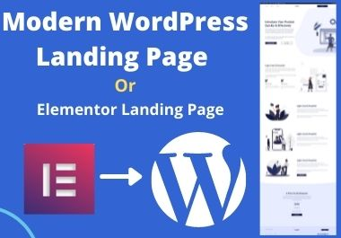 I will create a modern WordPress landing page or elementor landing page