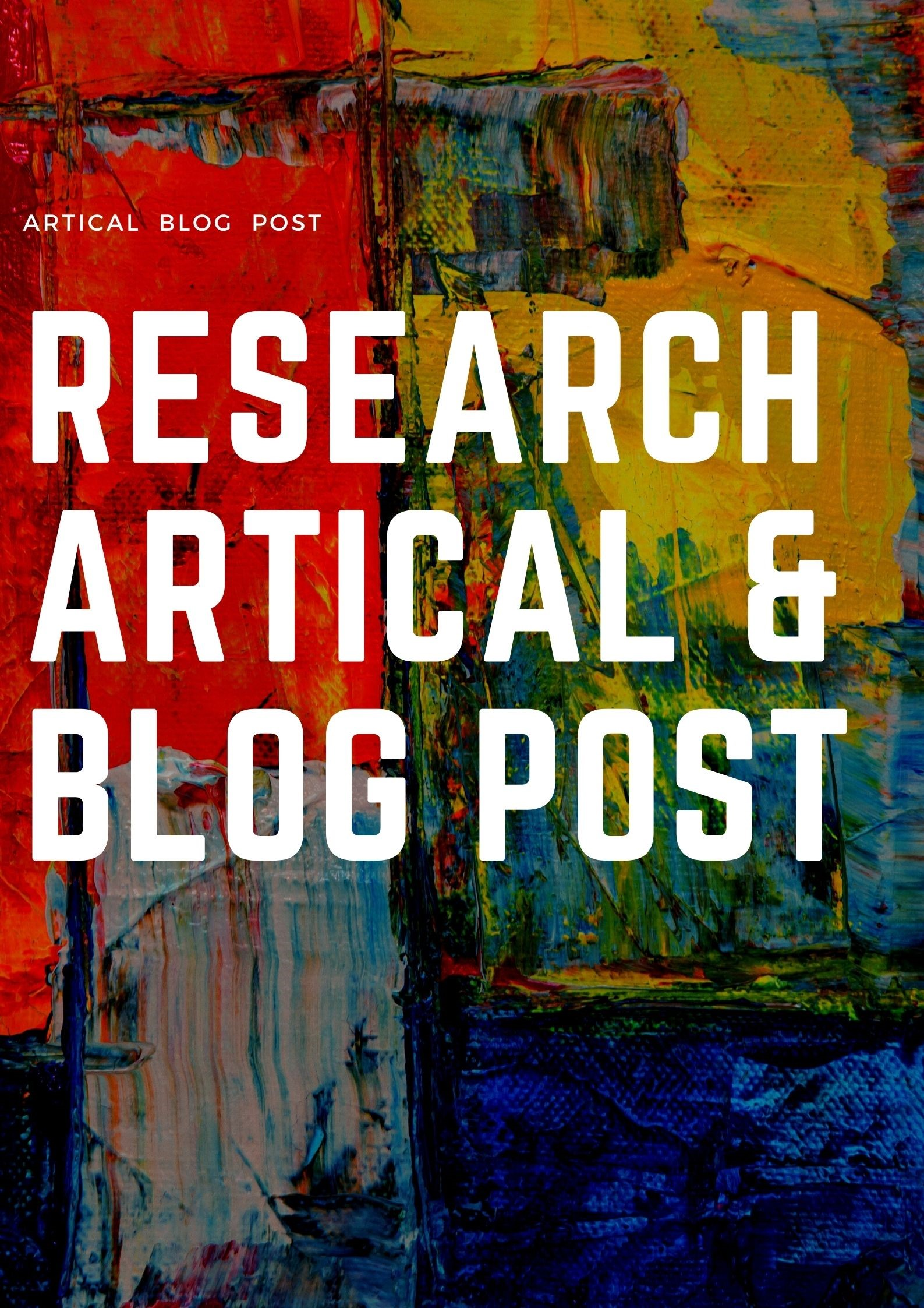 I Will Research 500 words Article and Blog Post